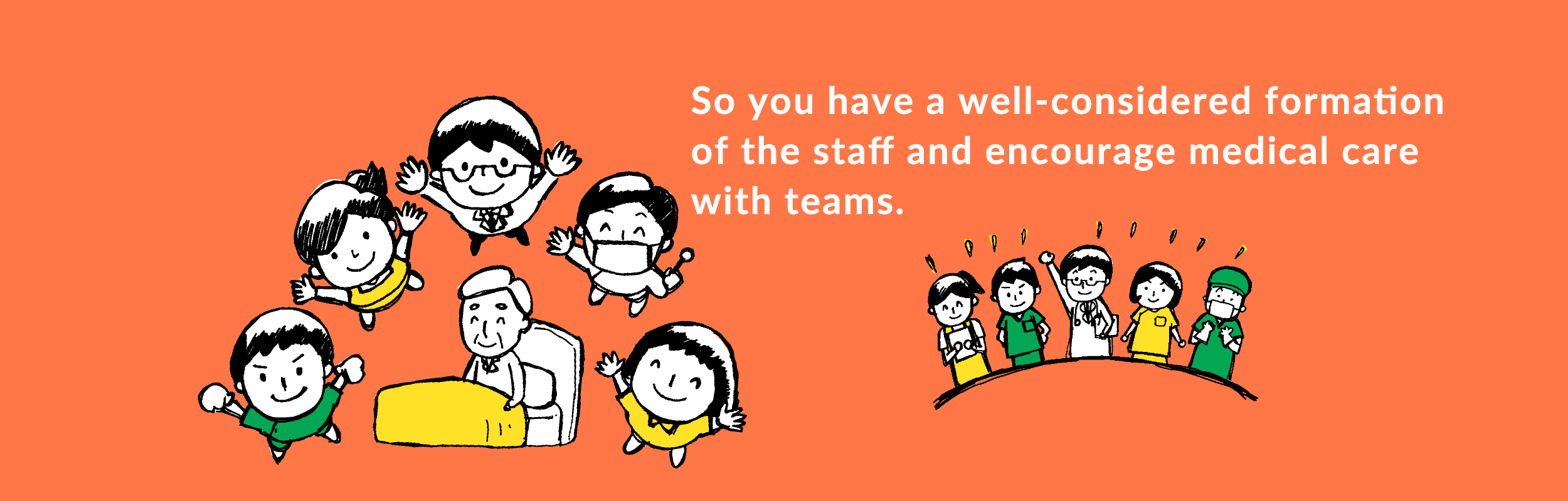 So you have a well-considered formation of the staff and encourage medical care with teams.